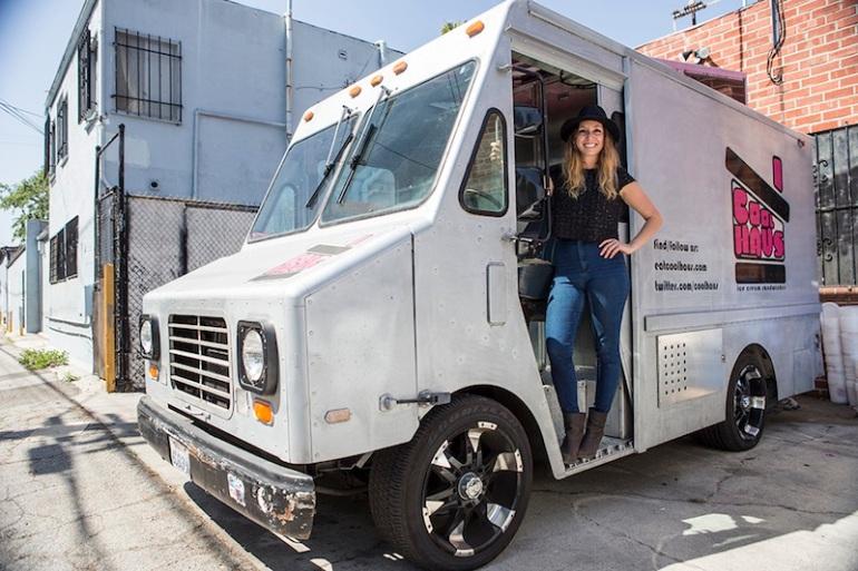 Natasha Case & Coolhaus truck Photo: Vito Nguyen for The Hundreds