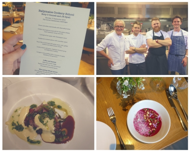 Monday 17th Ballymaloe Dinner